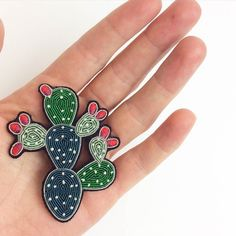 Some call it the Indian Fig; the Cactus Pear; the Barbary Fig; the Spineless Cactus or the Prickly Pear we call it: JUST FAB! Our new brooch from @maconetlesquoy would make a perfect Christmas gift for any gardener or cactus aficionado (we know a few!)  #Favourites #Happy #Christmas #ChristmasGifts #CactiOfInstagram