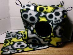Cuddle Cube and Hammock Set Skulls  Small Pet by GreenerThanYou