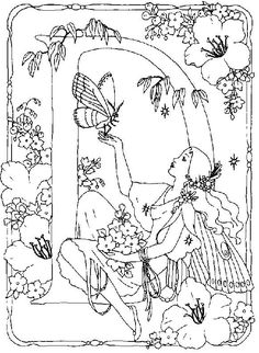 Fairy Coloring Pages For Adults | ... january 5 2012 alphabet coloring pictures coloring pictures kids zone