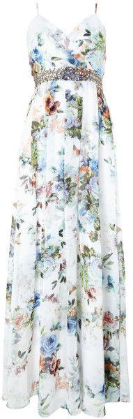 Love this: Jewel Waist Floral Maxi Dress @Lyst