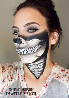 Skull makeup for halloween
