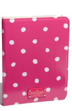 This is soo cute! If I had or needed an Ipad, this would be it's case :).  Kate Spade ipad folio