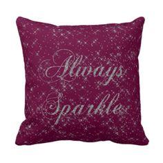 Sparkle Silver Glitter pillow from Zazzle.com