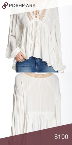 c3ee150b92 FREE PEOPLE People Don't Let Go Peasant Blouse Beautifully romantic peasant  blouse with delicate