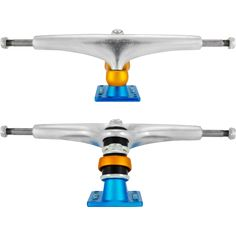 If you are looking for exaggerated easy turning and a smooth flow, the Gullwing Sidewinders are definitely the trucks for you. Longboard Trucks, E Skate, Longboarding, Blue Orange, Surfing, Aqua, Flat Icons, Movie Characters, Skateboards