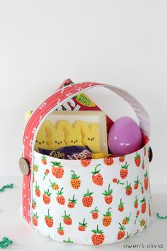 Soft fabric baskets and buckets tutorial