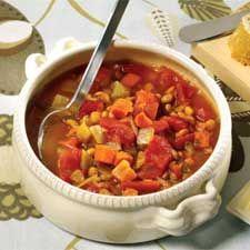 Recette Soupe aux lentilles vertes - Coup de Pouce