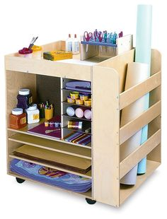Whitney Brothers Rolling Art Cart - BLICK art materials
