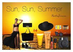 """Sun, Sun, Summer"" by nathajimenez on Polyvore featuring moda, ONLY, Henri Bendel, Clarins, Caudalíe, Denman, Dorfman Pacific, Andrew Gn y Sandy Hyun"