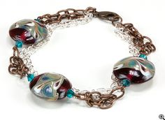 Jewelry Making Idea: Red Velvet Swirl Bracelet (eebeads.com)