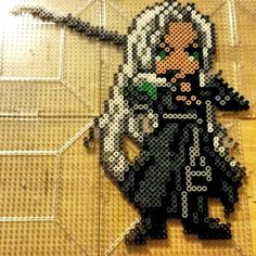 Sephrioth - Final Fantasy perler beads by the_nerdy_girl_crafter