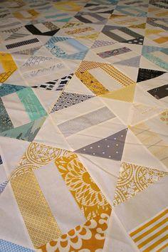 Cracker Scraps quilt by Twee cut to pieces