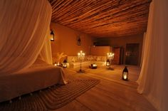 romantic bedroom, candlelit of course!