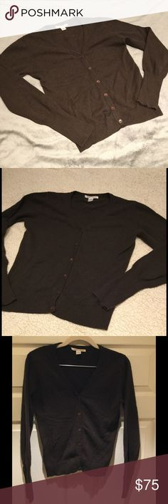 """Alice + Olivia Cashmere Cardigan 100% Cashmere cardigan by Alice + Olivia in a dark brown and in perfect condition.  Approx 20"""" long. Alice + Olivia Sweaters Cardigans"""