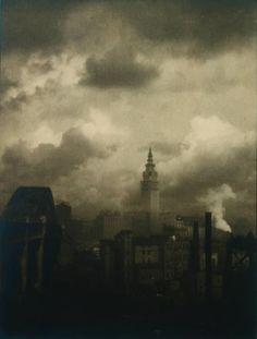 Terminal Tower Margaret Bourke-White #photography @Qomomolo 1928 Gelatin silver print The Cleveland Museum of Art