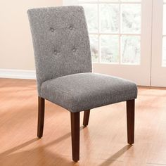 Extra Wide Tweed Parson Chair | Extra Large Chairs & Seating | Brylanehome