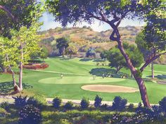 Pala Mesa Golf Course by Mary Helmreich ~ watercolor landscape California