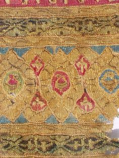 An early fragment of Islamic embroidery from North Africa Fatimid Dynasty. This is a very rare and early piece dated to the early 12th century