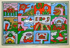 Alexis Akrithakis, 12 Stories, cm, Signed and dated: Akrithakis Berlin Kindergarten Art, Art Activities, Kids Rugs, Illustration, Fictional Characters, Paper Boats, Berlin, Greek, Windows