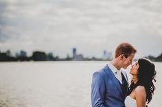 De skyline van Rotterdam bij de Kralingse Plas ~ Bruidsfotograaf Mark Daams