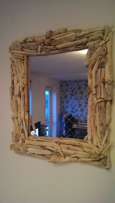 Items similar to Handmade Cornish Storm Driftwood Mirror on Etsy Driftwood Mirror, Driftwood Ideas, Drift Wood, River House, Painted Furniture, Rustic, Bathroom, Decoration, Creative