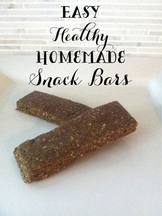 The Social Home: Healthy Home | Super Easy, Healthy Snack Bars
