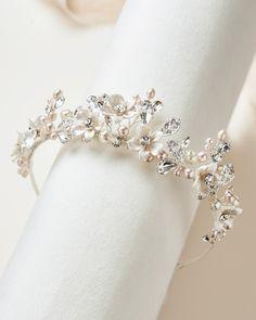 Bridal Tiara, Bridal Crown, Bridal Headpieces, Pearl Bridal, Headpiece Wedding, Silver Wedding Crowns, Wedding Tiaras, Silver Tiara, Bohemian Accessories