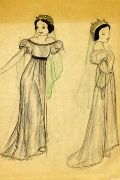 bellecs: Snow White sketch, 1930s