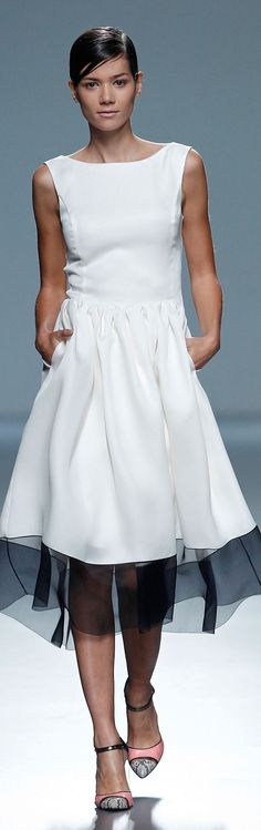 Victorio & Lucchino RTW Spring 2014 - MBFW Madrid ~ simple and exquisite . . .