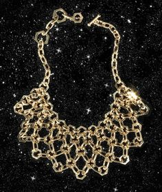 Nice gold filgree necklace
