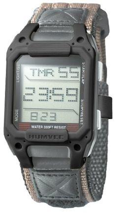 Humvee Men's HMV-W-RCN-BLK Recon Tan Nylon Strap Watch | Pebble Watch Bands