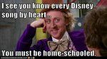 lol im home schooled but still laugh at this     ( Little  Einsteins ) you have to be a really close friend of mine  to get that