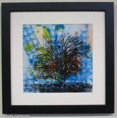 Old Tree - mixed media original - Linda Germain