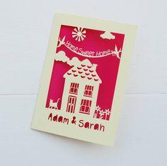 personalised new home laser cut card by pogofandango | notonthehighstreet.com