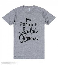 This is the way to seal your position in nerdom! Combine two things you geek out over. Here I have Harry Potter and Gilmore Girls. On a shirt.