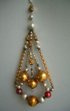 Czechoslovakian Gablonz glass beaded ornaments