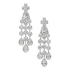 Deel Collection by Harry Winston, Diamond Cascading Drop Earrings