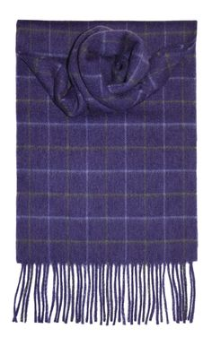 Purple Windowpane Luxury Cashmere Scarf - Lochcarron of Scotland Écharpe En  Cachemire, Tartan, Plaid 45d2b6c04ac