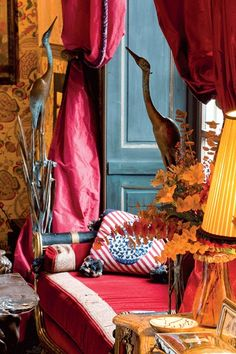 Hubert and Isabelle d'Ornano's flat in Paris.  Interior Design Henri Samuel.