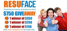 Hurry and Join the ResuFace.Com $750 PayPal Cash Giveaway. Click the image for more information. Win Free Stuff, Online Contest, The Lucky One, Have Some Fun, Travel Style, Resume, Join, Entertaining, My Love