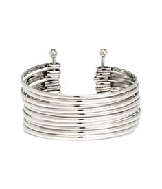 Cuff bracelet in metal consisting of ten narrow bangles. Width approx. 1 1/2 in.