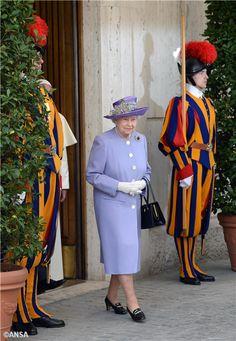 Queen Elizabeth at the Vatican, April Hm The Queen, Royal Queen, Save The Queen, King Queen, Elizabeth Philip, Queen Elizabeth Ii, 3rd April, Defender Of The Faith, Royal Uk