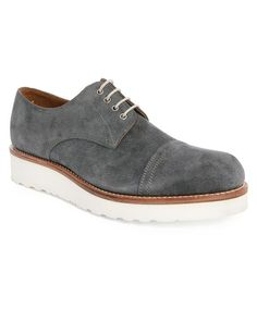 0ae76a656fd Grenson Ross Grey Suede White Sole Brogues in Gray for Men