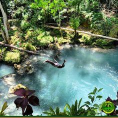 Island Gully Falls in St. Ann, Jamaica
