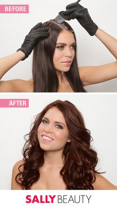 Before/After: Take Your Hair From Drab To Fab. Want to take your hair from 'snoring' to 'roaring' without visiting a salon? An at-home color makeover is easy when you follow these steps. #sallyhairdare