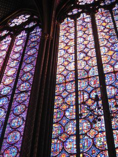 Saint Chappelle.... I love stained glass windows