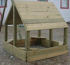 sandbox outdoor-projects-ideas Can be converted to a deer blind after the children outgrow it ;)