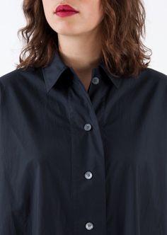 Acne Studios - Navy blue shirt dress - Département Féminin Chemise Bleu  Marine, Chemises Bleu 9b72b58c43d