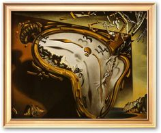 Art.com Soft Watch at the Moment of First Explosion, c.1954  Framed Art Print by Salvador Dali