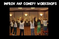 Improv Comedy Workshops with Eight is  NEVER Enough in NYC. Build communication skills, listening, learning and self-confidence through laughter and comedy. Join us in NYC for some FUN classes in comedy! http://www.eightimprov.biz/classes
